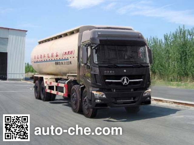 Beiben North Benz low-density bulk powder transport tank truck ND53100GFLZ