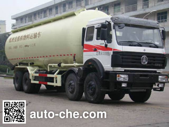 Beiben North Benz low-density bulk powder transport tank truck ND53101GFLZ